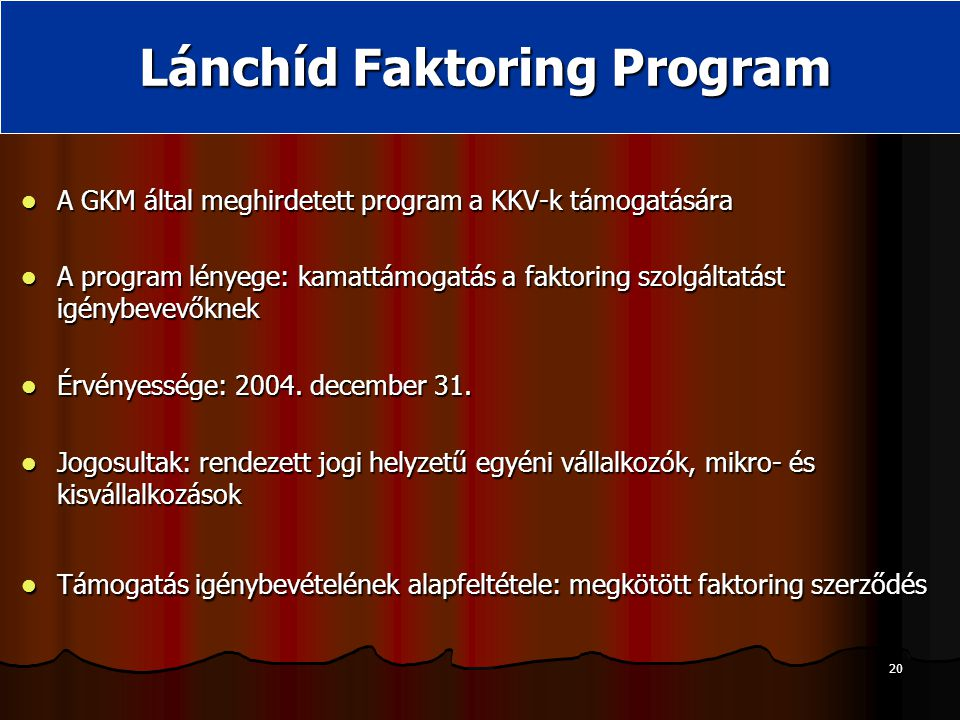 Lánchíd Faktoring Program