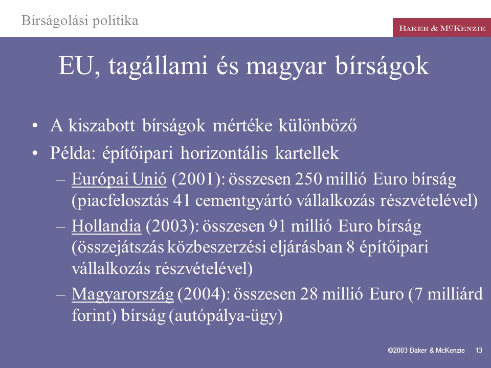 EU, tagállami és magyar bírságok