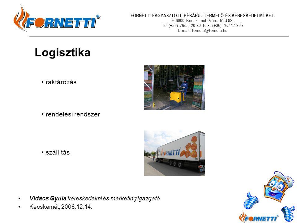 Logisztika IV raktározás rendelési rendszer szállítás