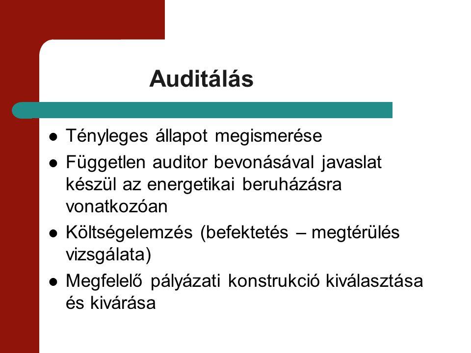 Auditálás Tényleges állapot megismerése