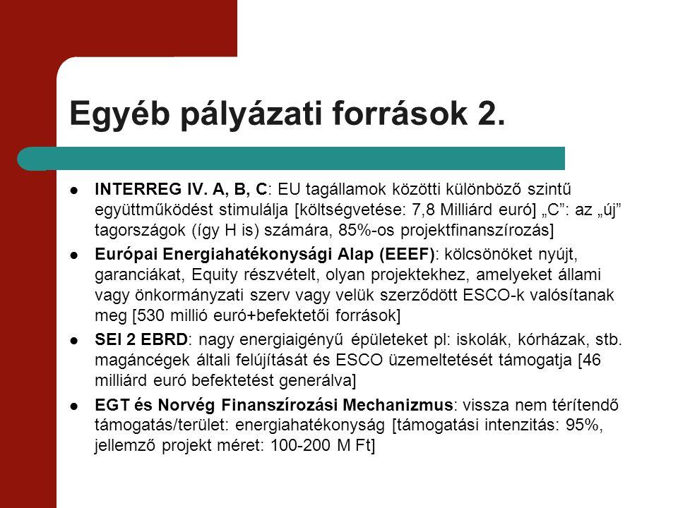 Egyéb pályázati források 2.
