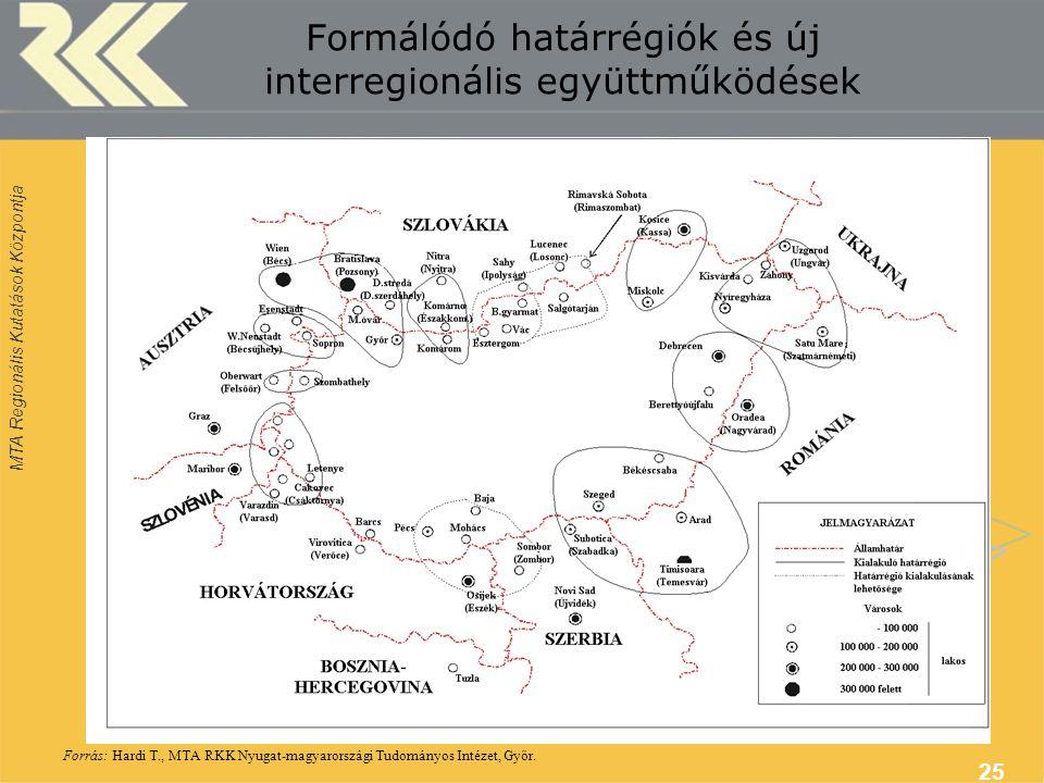 Formálódó határrégiók és új interregionális együttműködések