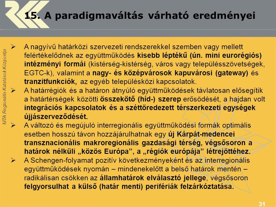 15. A paradigmaváltás várható eredményei