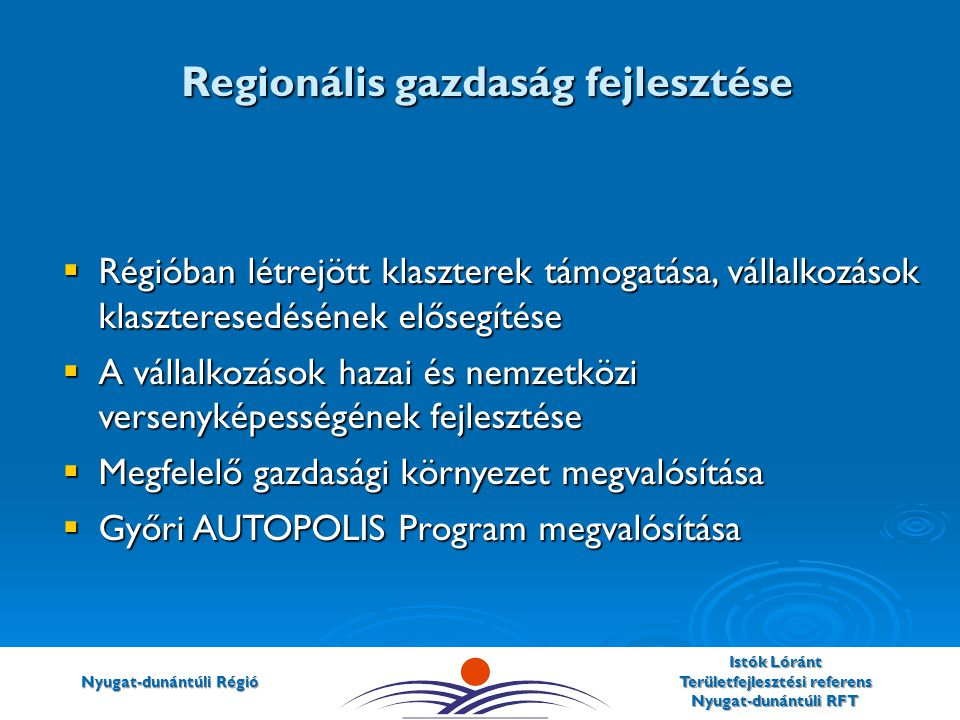 Regionális gazdaság fejlesztése