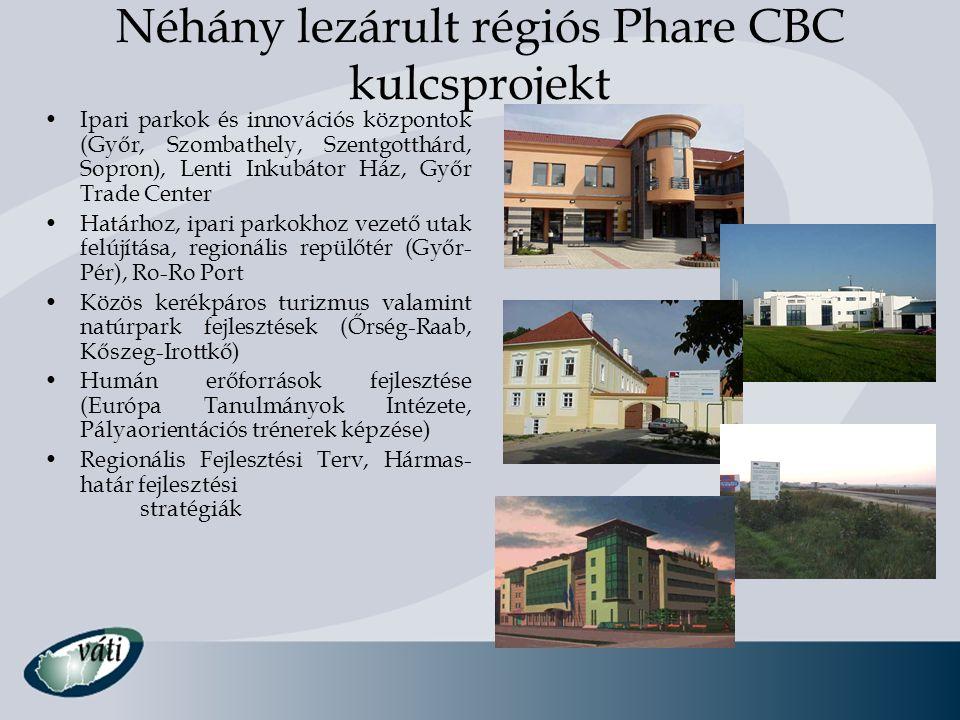 Néhány lezárult régiós Phare CBC kulcsprojekt