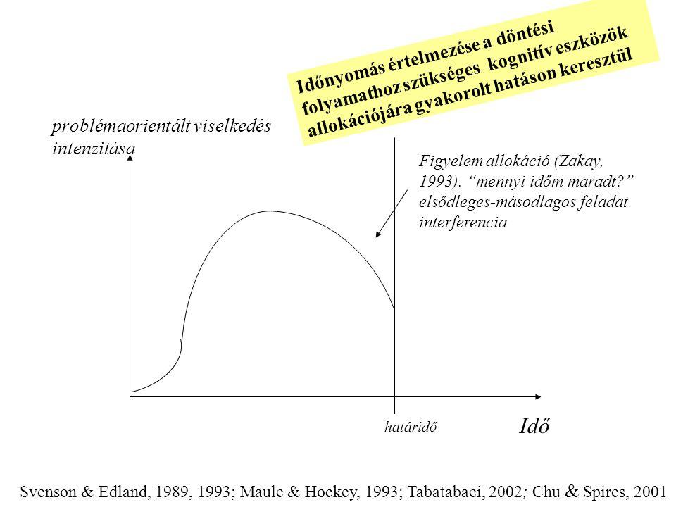 Időnyomás értelmezése a döntési folyamathoz szükséges kognitív eszközök allokációjára gyakorolt hatáson keresztül