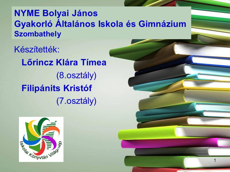 NYME Bolyai János Gyakorló Általános Iskola és Gimnázium Szombathely