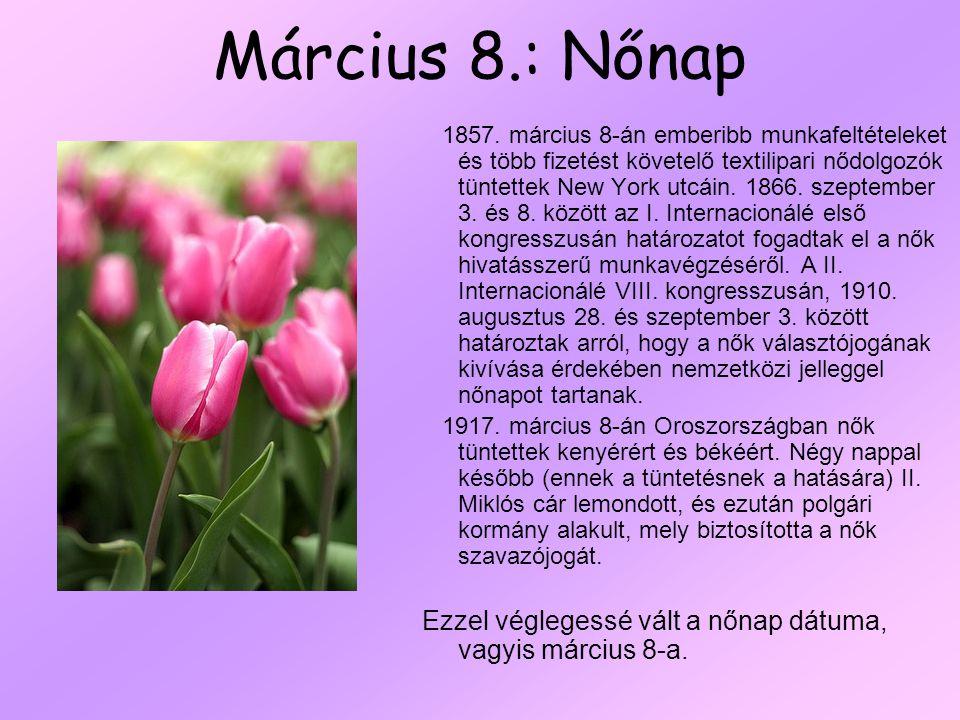 Március 8.: Nőnap
