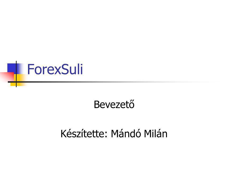 Bevezető Készítette: Mándó Milán