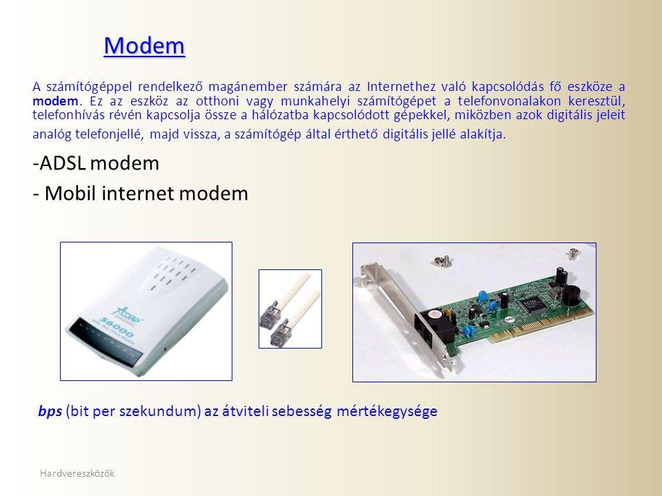 Modem ADSL modem Mobil internet modem