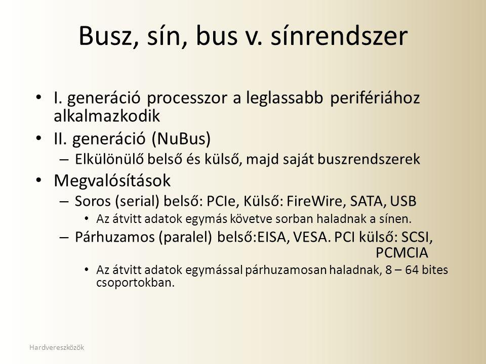 Busz, sín, bus v. sínrendszer