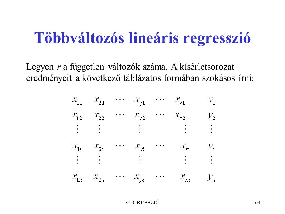 Többváltozós lineáris regresszió