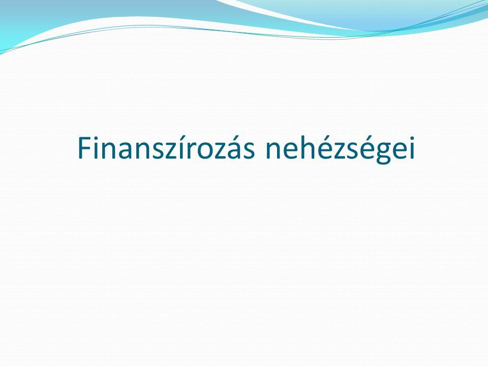Finanszírozás nehézségei