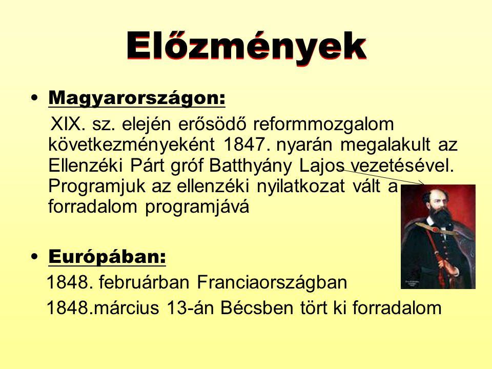 Előzmények Magyarországon: