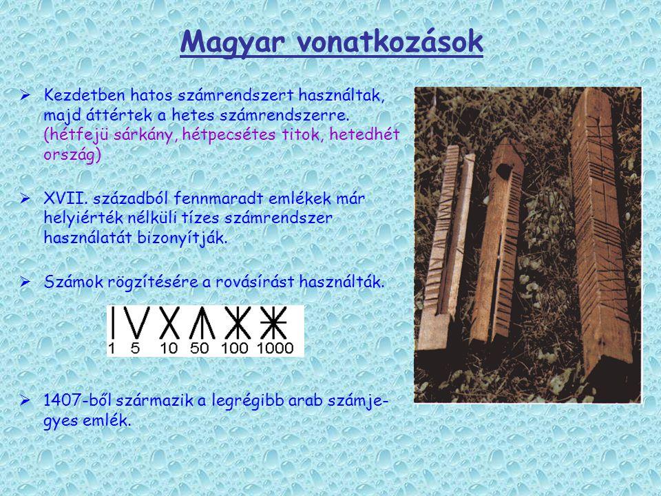 Magyar vonatkozások