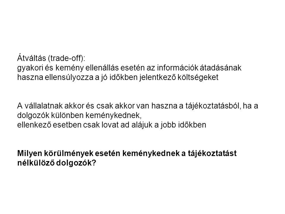 Átváltás (trade-off):