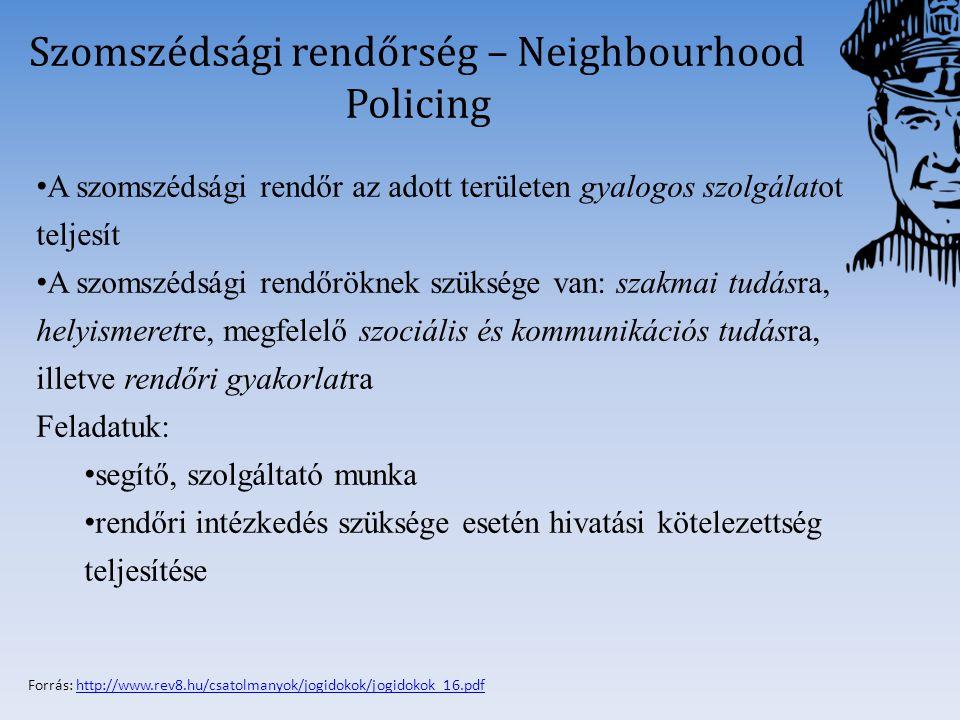 Szomszédsági rendőrség – Neighbourhood Policing