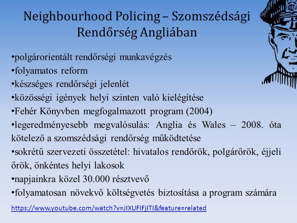 Neighbourhood Policing – Szomszédsági Rendőrség Angliában