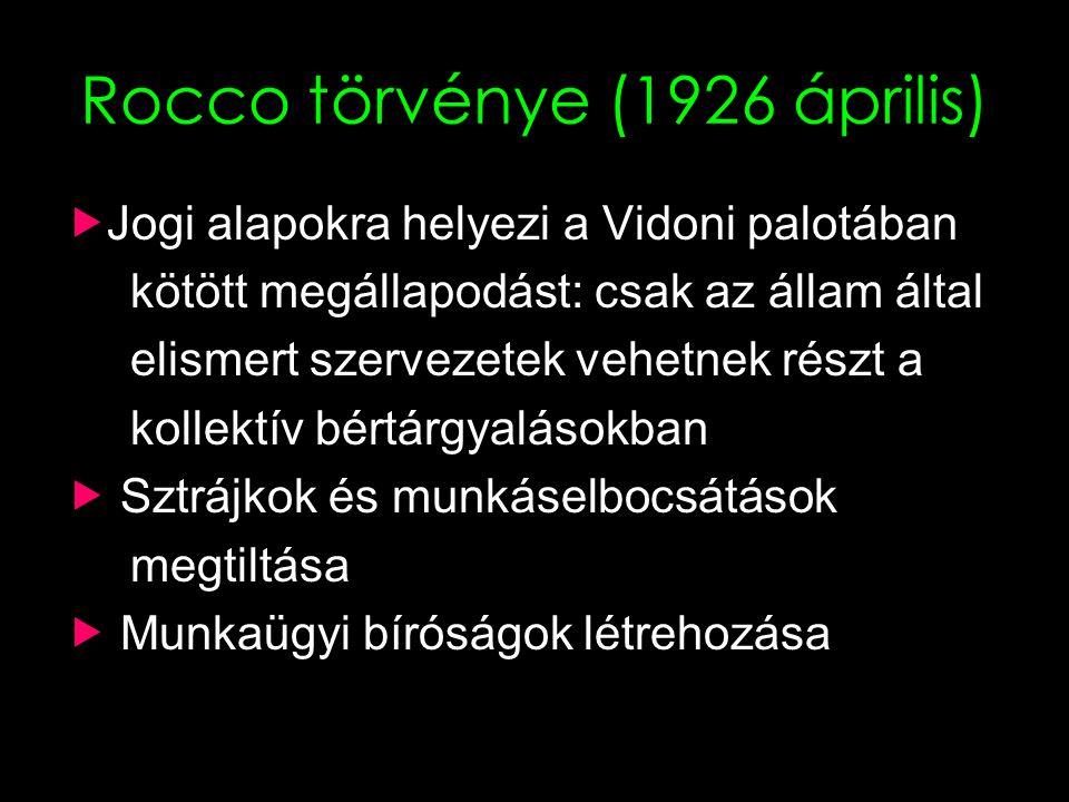 Rocco törvénye (1926 április)