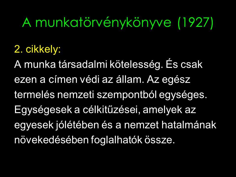 A munkatörvénykönyve (1927)