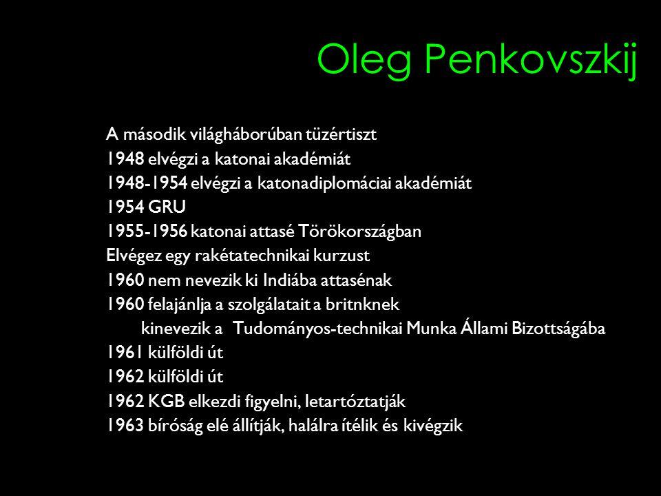 Oleg Penkovszkij A második világháborúban tüzértiszt