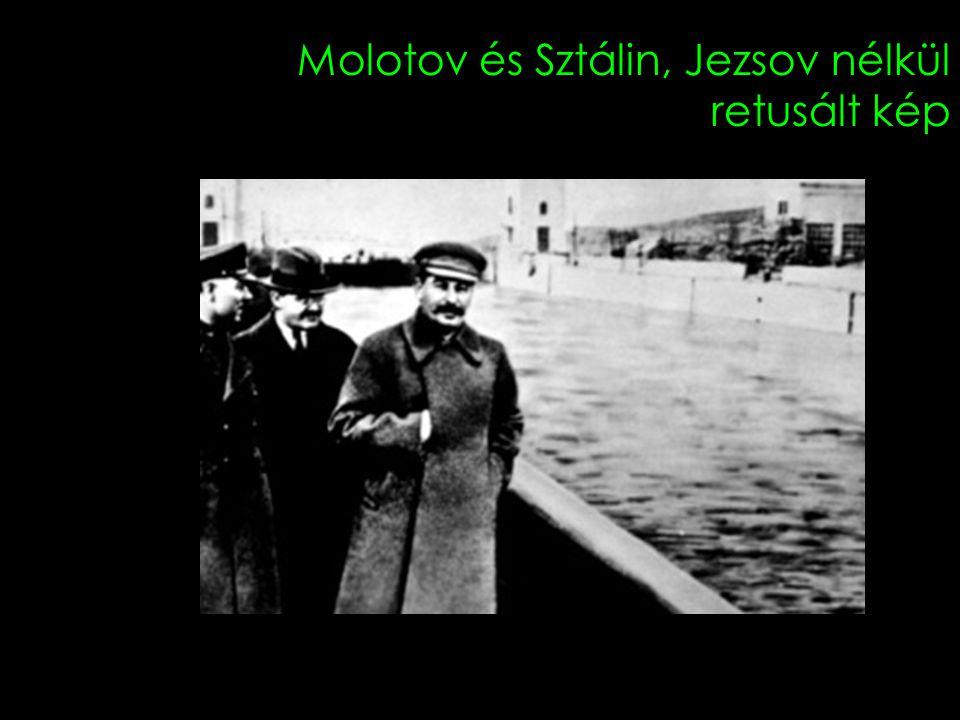 Molotov és Sztálin, Jezsov nélkül retusált kép