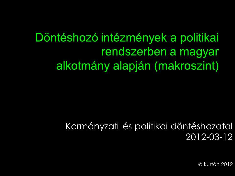 Kormányzati és politikai döntéshozatal 2012-03-12  kurtán 2012