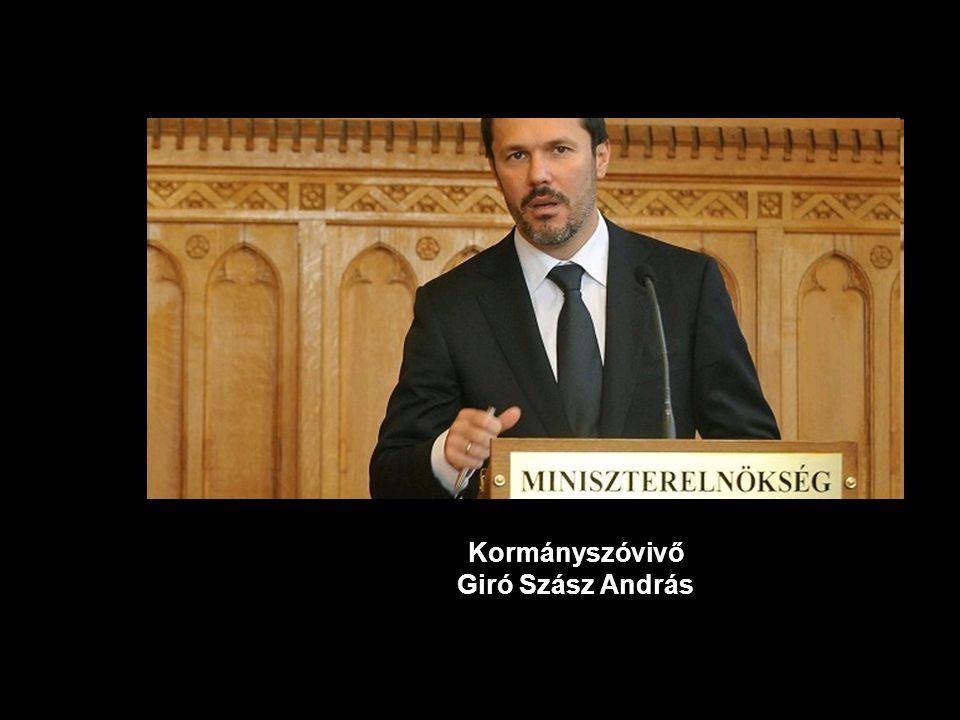 Kormányszóvivő Giró Szász András