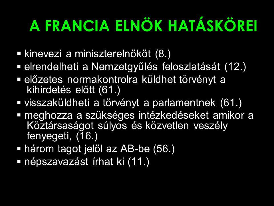 A FRANCIA ELNÖK HATÁSKÖREI