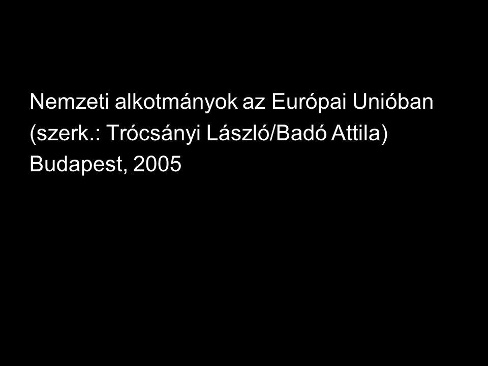Nemzeti alkotmányok az Európai Unióban