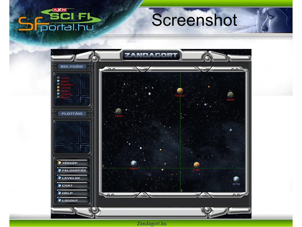 Screenshot Zandagort.hu