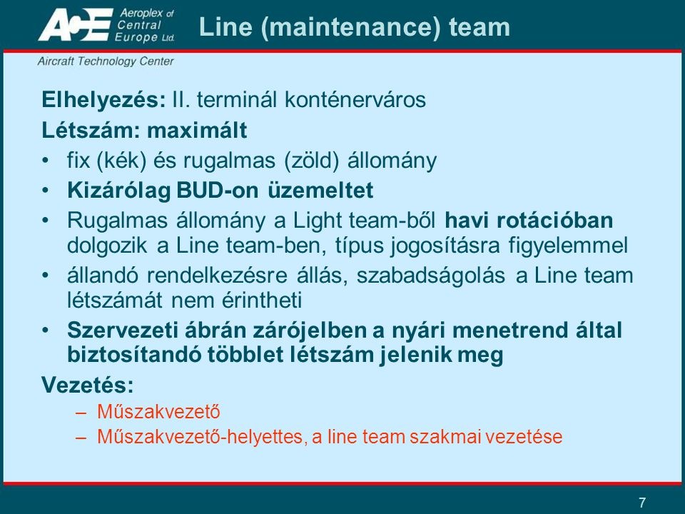 Line (maintenance) team
