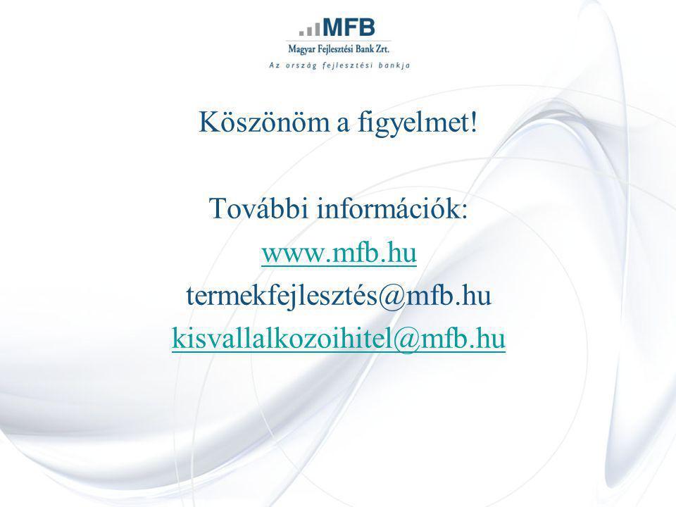 Köszönöm a figyelmet. További információk: www.mfb.hu.