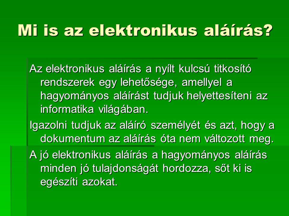 Mi is az elektronikus aláírás
