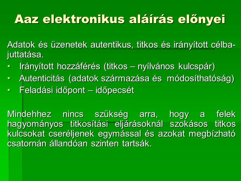 Aaz elektronikus aláírás előnyei