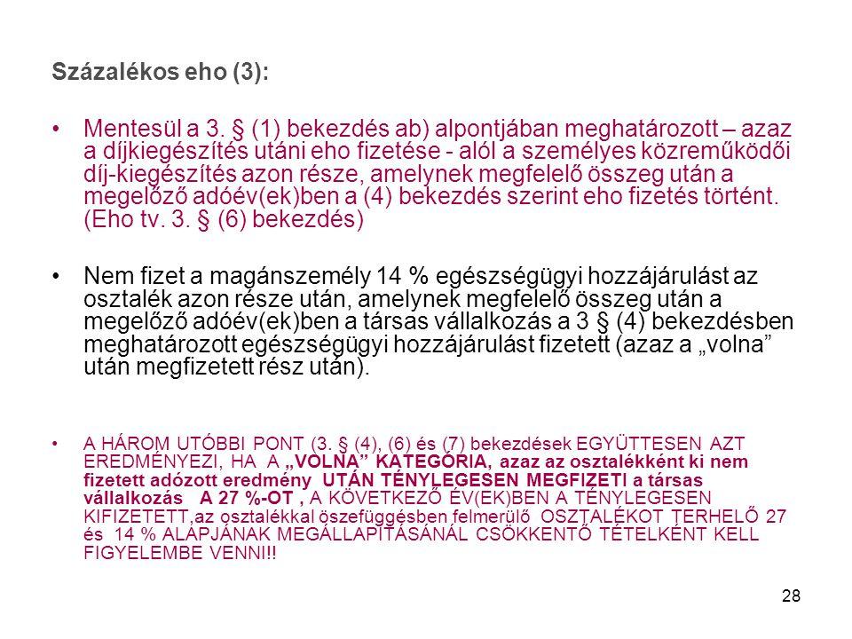 Százalékos eho (3):