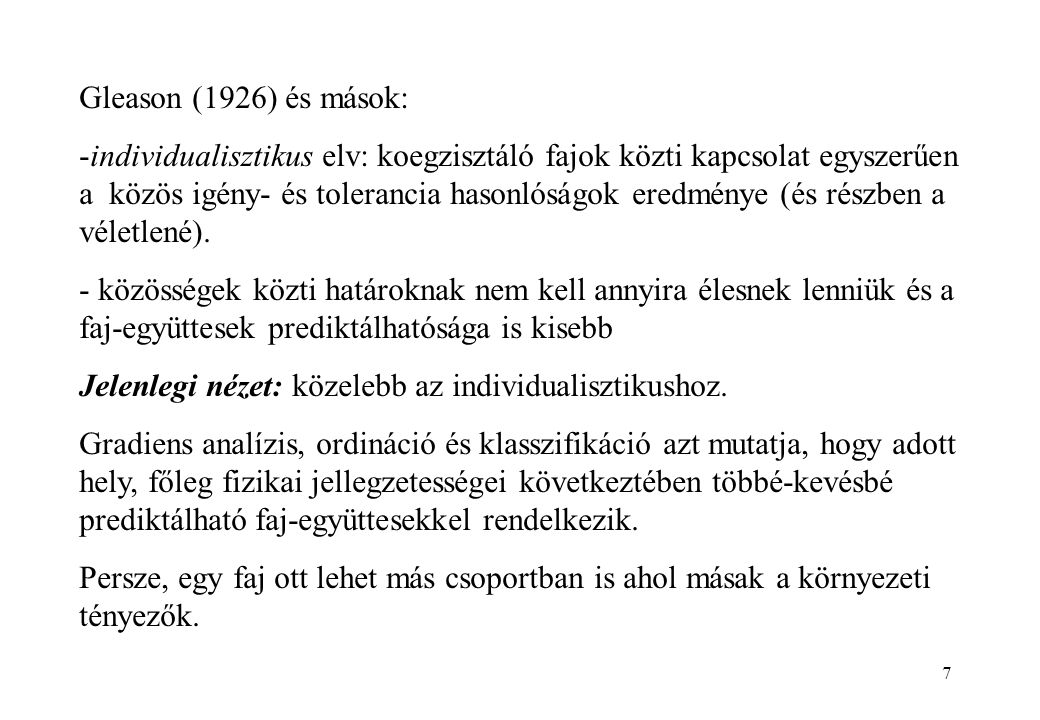 Gleason (1926) és mások: