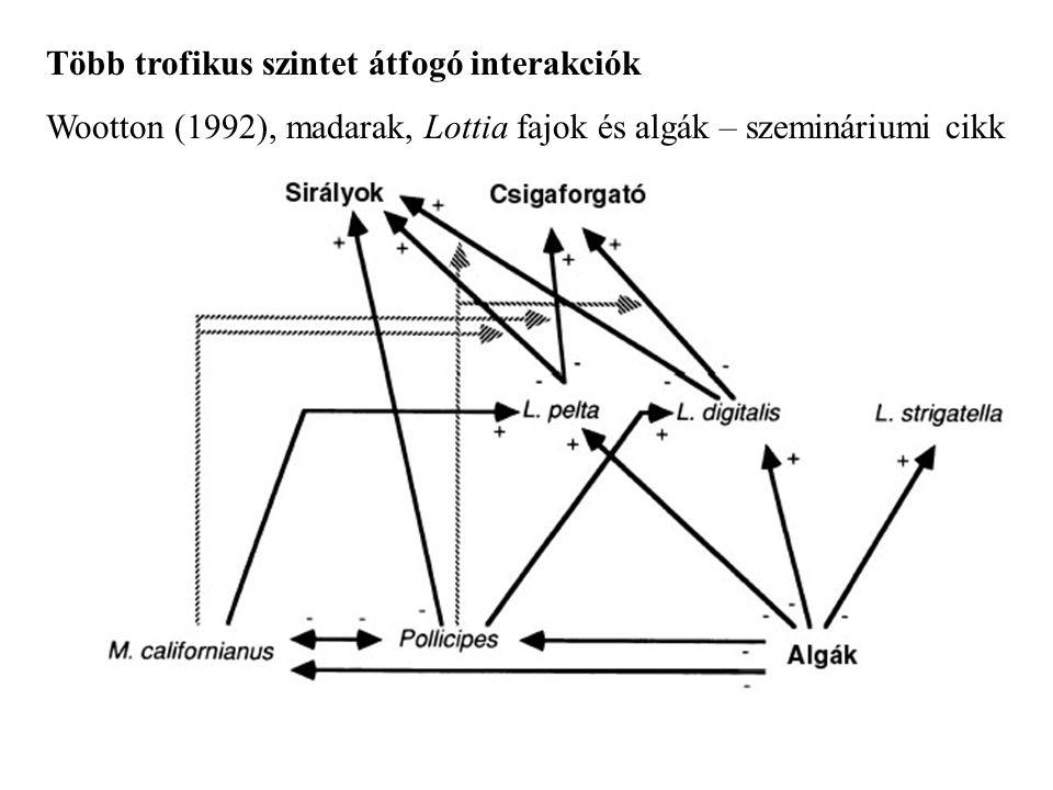 Több trofikus szintet átfogó interakciók