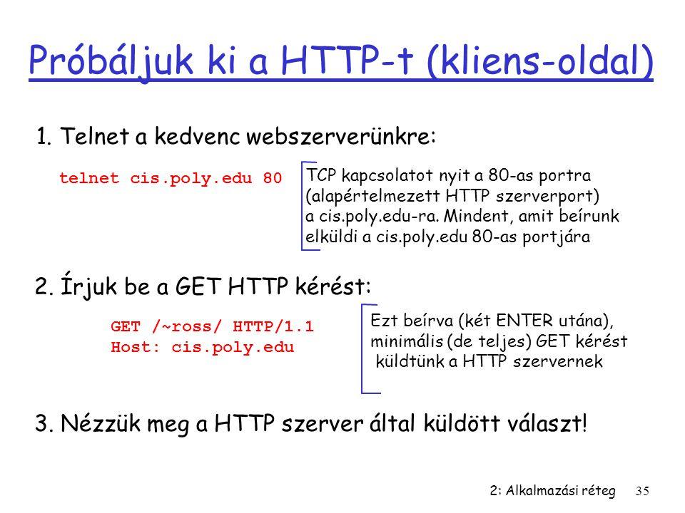 Próbáljuk ki a HTTP-t (kliens-oldal)