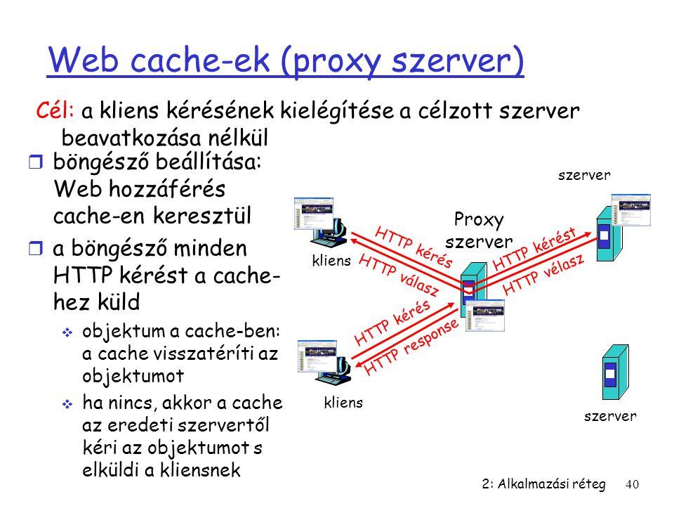 Web cache-ek (proxy szerver)