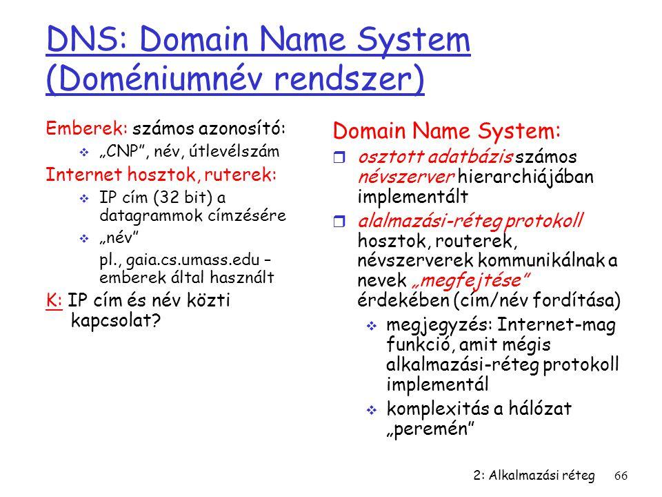 DNS: Domain Name System (Doméniumnév rendszer)