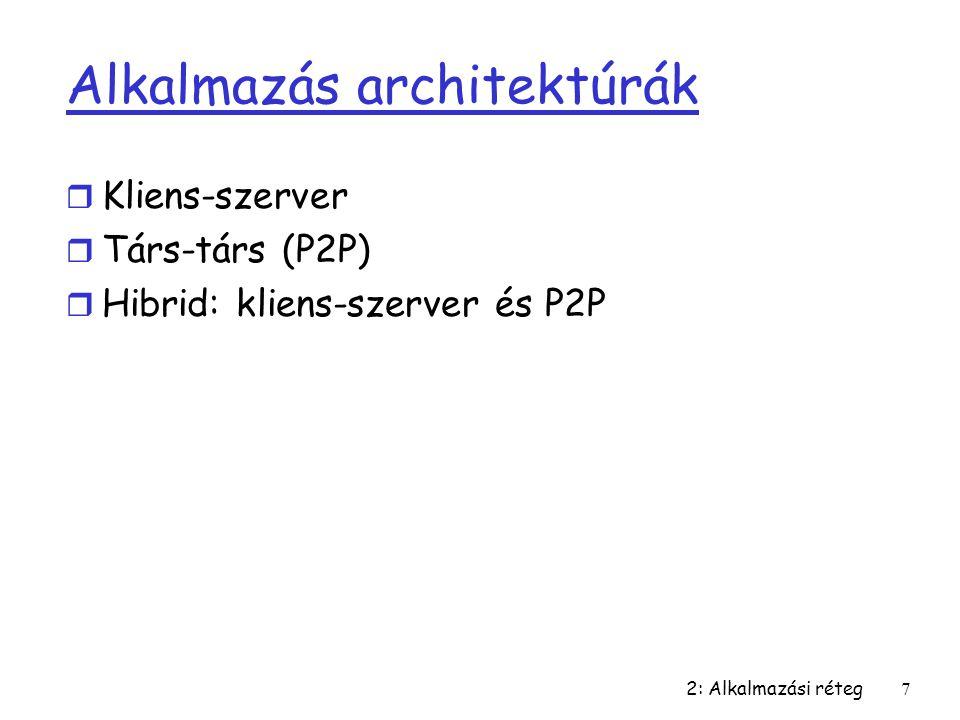 Alkalmazás architektúrák