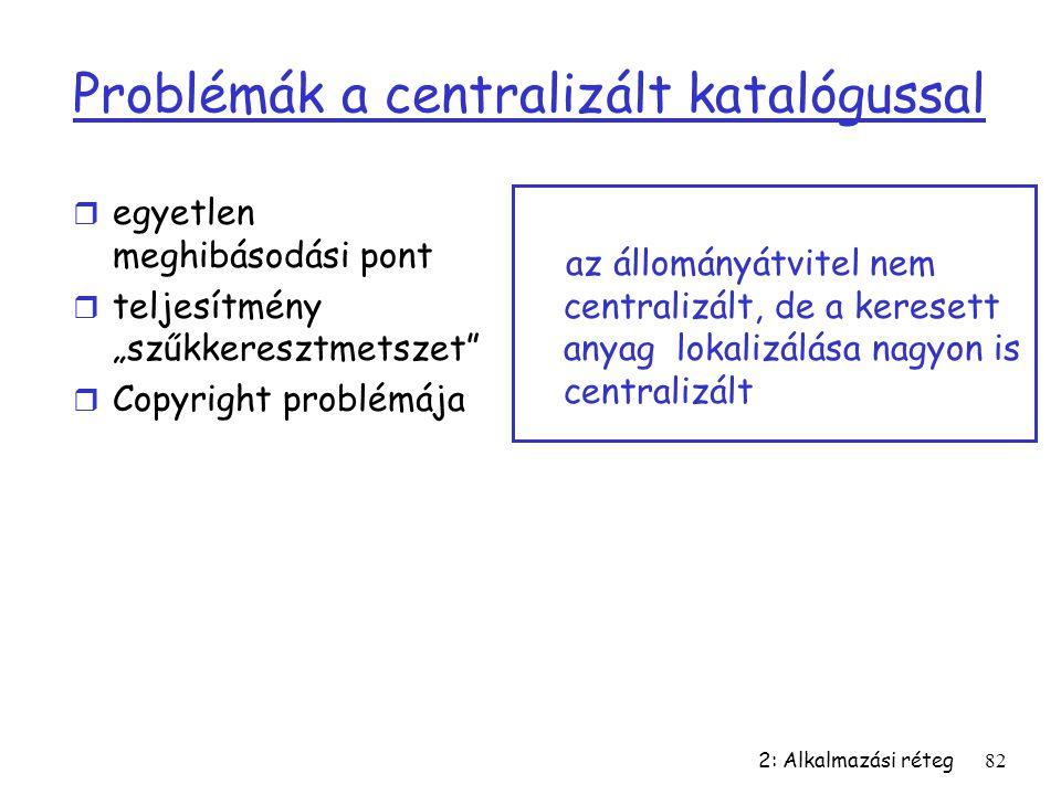Problémák a centralizált katalógussal