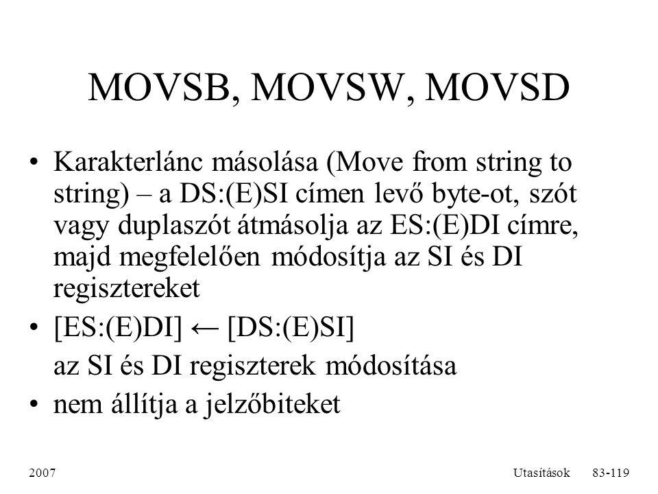 MOVSB, MOVSW, MOVSD