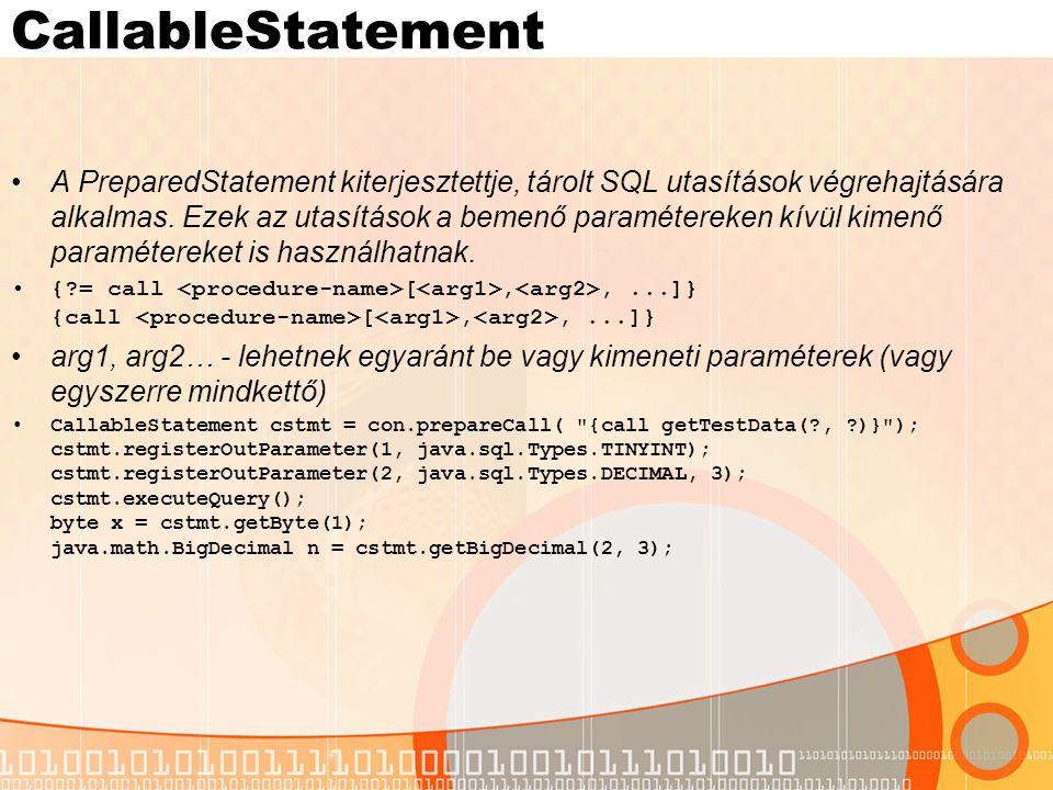 CallableStatement