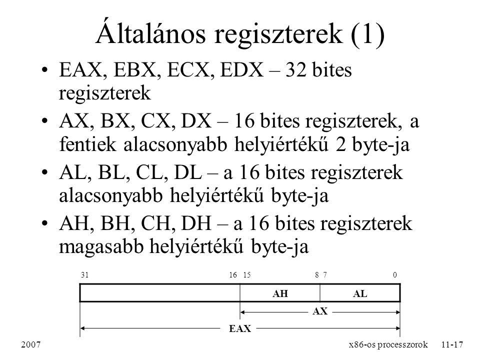 Általános regiszterek (1)