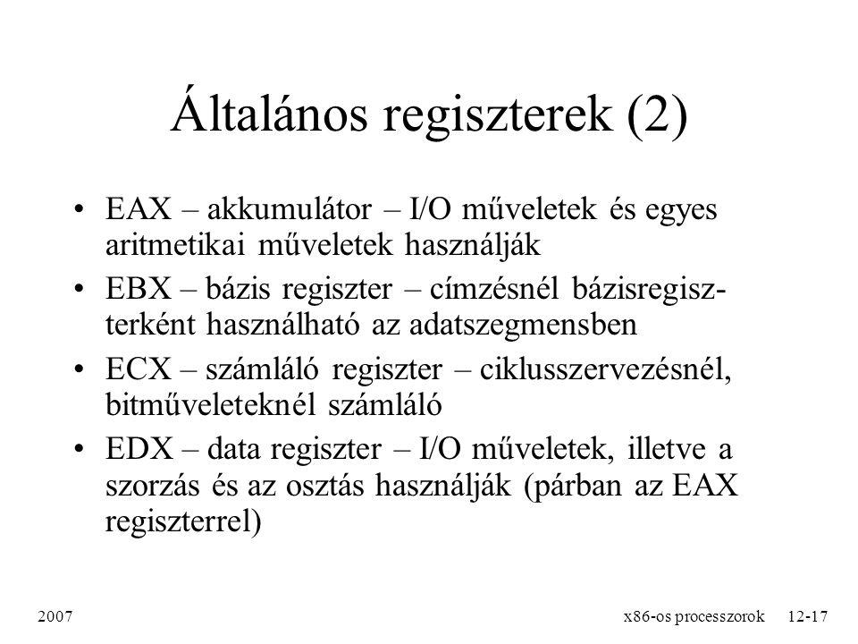 Általános regiszterek (2)