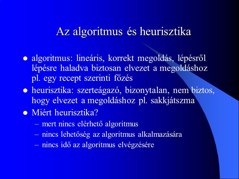 Az algoritmus és heurisztika
