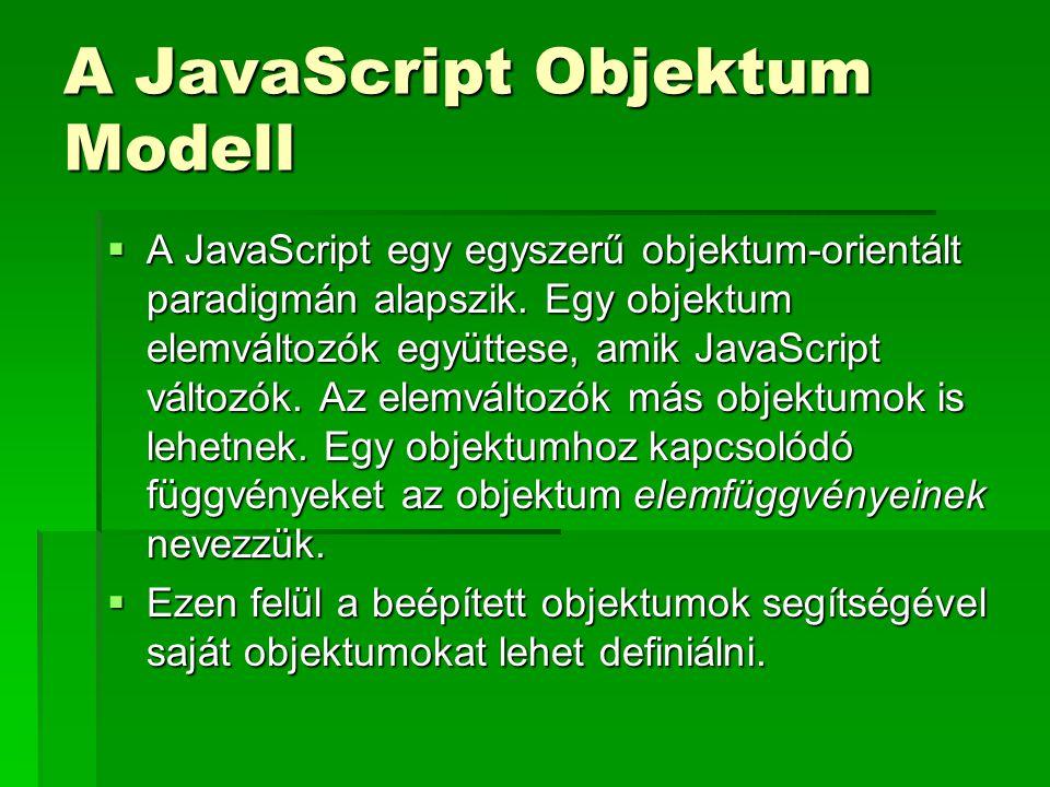 A JavaScript Objektum Modell