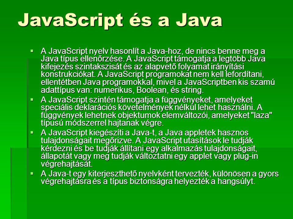JavaScript és a Java